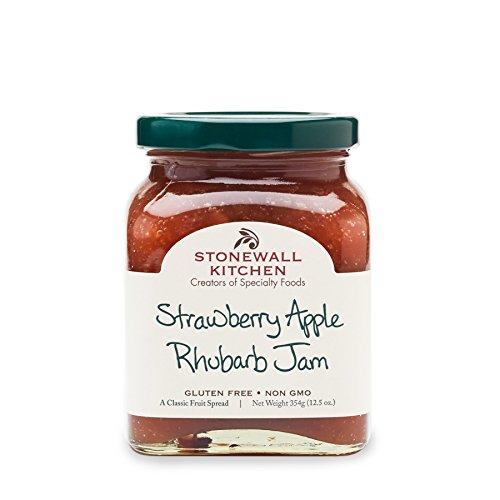 Stonewall Kitchen Strawberry Apple Rhubarb Jam, 12.5 Ounces