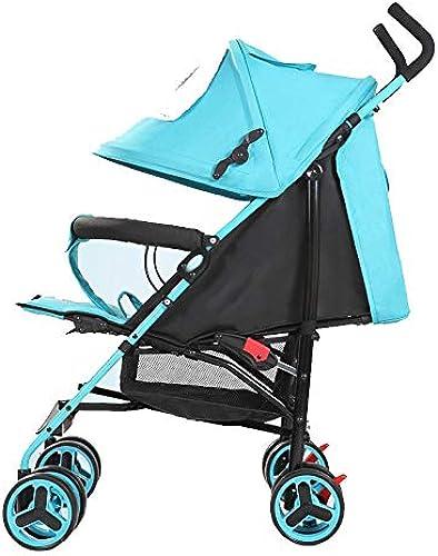 MINISU S ling BabStroller Kinderwagen, SchwarzReise (Farbe   Blau)