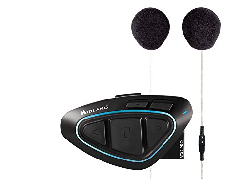 Midland BTX2 Pro Single con altavoces HI FI - Intercomunicador, color azul