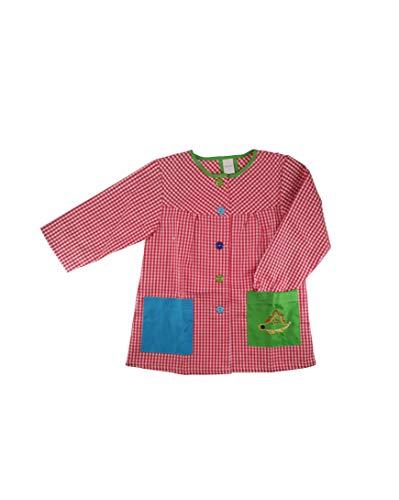 Kiz Kiz Bata Escolar Infantil Multicolor Baby Infantil de Cuadros - (1 año, Rojo)