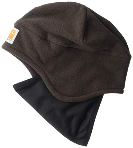 Carhartt Men's Fleece 2-In-1 Headwear,Dark Brown,One Size