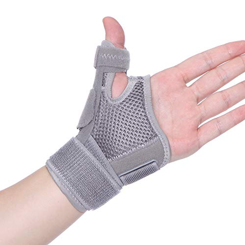 CROSS1946 Thumb Brace,Thumb Splint with Wrist Brace for Arthritis Pain Relief,for Men&Women,Sprains,Trigger Thumb,Carpal Tunnel,Thumb Stabilizer for Repetitive Strain of Thumb,Left/Right Hand,Gray