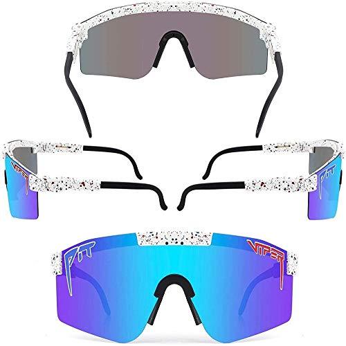 Mzeyuan Gafas de sol deportivas polarizadas con 3 o 5 lentes intercambiables, gafas de ciclismo para hombre y mujer, béisbol, correr, pesca, golf, conducción