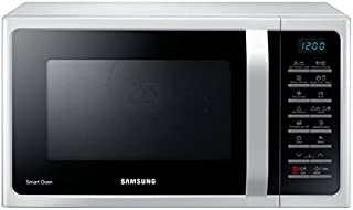 Samsung 28 Liters Microwave Grill & Convection with Healthy Cooking, White - MC28H5015AW, 1 Year Warranty