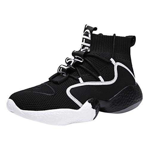 Discover Bargain DAGE Men's Large Size High-Top Breathable Soft Bottom Running Shoes Sport Stamina S...