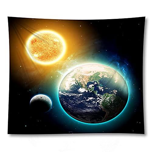 shuimanjinshan Espacio Exterior Planeta Galaxia Imprimir Tapiz Indio Hippie Mandala Colgante de Pared Colcha Bohemia decoración del Dormitorio 180X230Cm