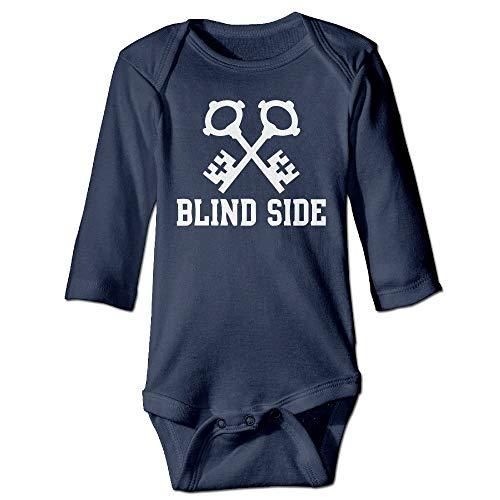 FULIYA Body de manga larga para bebé con diseño de oruga, unisex, para bebé, con llave blanca para el lado ciego, para niñas, traje de manga larga, traje de sol, azul marino