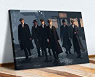 CanvasArtShop Peaky Blinders MEAN BUSINESS CANVAS WALL ART PICTURE 30MM DEEP FRAMED PRINT (36in x 24...