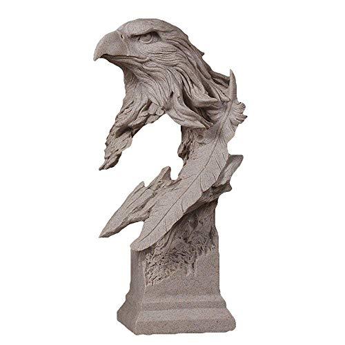 HPDOM Moderne Wohnzimmer Dekoration, Abstrakte Tier Statue, Adler Skulptur, Harz Dekoration, Schlafzimmer, Studie, Weinschrank, BüRo, Kunst Geschenk (18 × 14 × 35 cm)