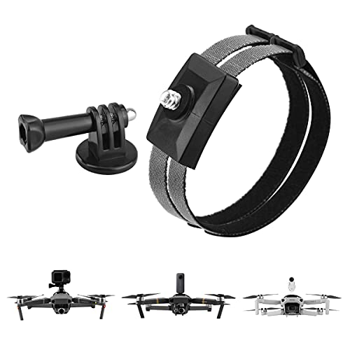 HeiyRC Sports Camera Mount for DJI Mavic Air 2 2S/Mavic 2 Pro Zoom/Mavic Mini 1 2 Drone for OSMO Action Insta360 One R X X2 for Gopro Hero 5 6 7 8 Panoramic Camera Connector Holder Accessory