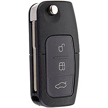 KaTur chiave telecomando pieghevole per auto a 3/tasti 433/MHz per Ford Focus Fiesta con chip 4d-63 Mondeo