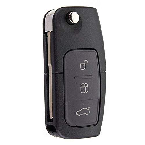 Llave con mando a distancia plegable de coche, de Katur, con 3 botones, de 433&nbsp MHz, para Ford con chip 4D-63