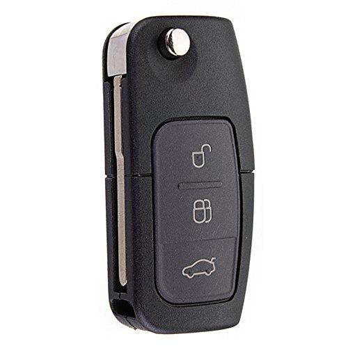 Llave con mando a distancia plegable de coche, de Katur, con 3 botones, de 433MHz, para Ford con chip 4D-63