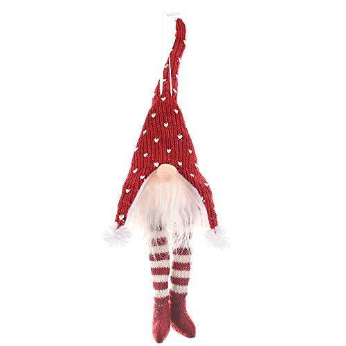 Sayla Weihnachten Handgemachte Wichtel Santa Dolls süße Weihnachten Tomte Nisse Figur aus Weihnachtsfigur Dwarf schöneren Weihnachts Deko für Home Schaufenster Geburtstag 40 cm x 10 cm (Rot)