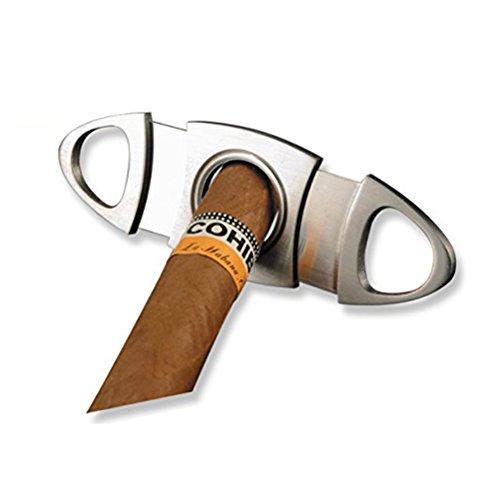 NUOLUX Taglia Sigari, Tagliasigari ovale in acciaio di alta qualita