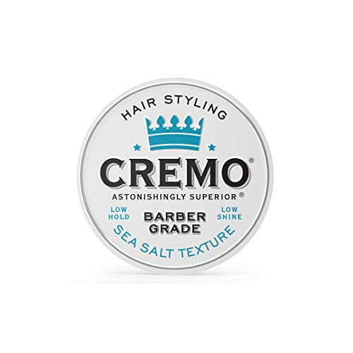 Cremo Premium Barber Grade Hair Styling Sea Salt Texture Cream, Low Hold, Low Shine, 4 Oz