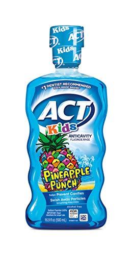 ACT Kids Anticavity Fluoride Rinse, Pineapple Punch Children's Mouthwash, 16.9 oz
