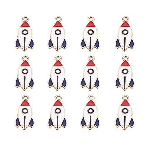 Airssory 40 colgantes esmaltados de aleación de zinc, esmaltados, para pulseras, collares, pendientes, adornos para el cabello, llaveros, bisutería, 27,5 mm