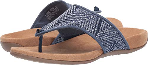 Minnetonka Womens Mara Delano Fabric Sandal 10 M US Blue