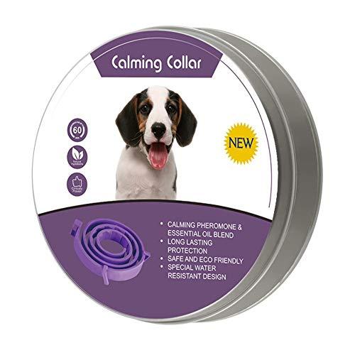 iPenty Pets Collar ajustable para aliviar la ansiedad, la feromona, el cuello calmante de la ansiedad, el alivio de la ansiedad, collar para gatos y perros