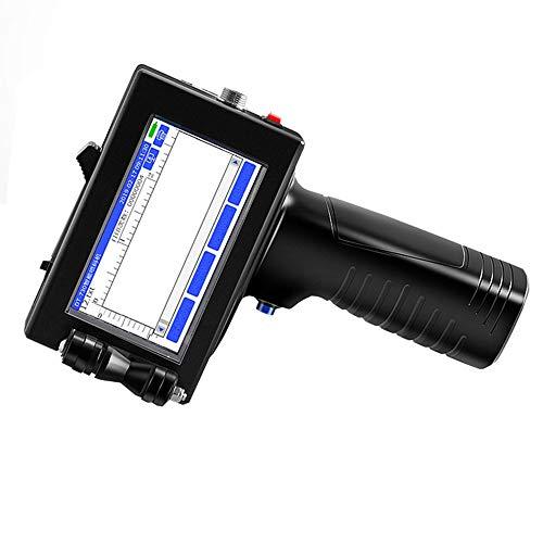 RLIRLI Impresora De Inyección De Tinta Portátil con Pantalla LED HD Portátil, Impresora De Codificador De Inyección De Tinta, Impresora De Etiquetas