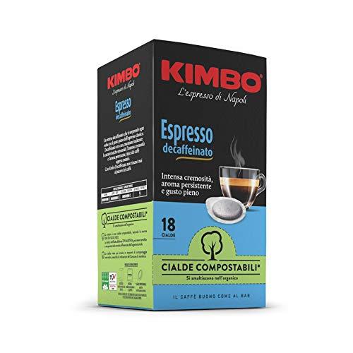 Kimbo Cialde Caffè Compostabili ESE Espresso Decaffeinato (Deca) - 8 Pacchi da 18 Cialde (Totale 144 Cialde)