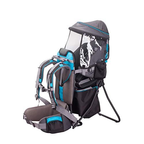 Mochila Portabebés Estable para Bebés y Niños,Gran Comodidad Portabebés para Senderismo Trekking Viajes,Azul