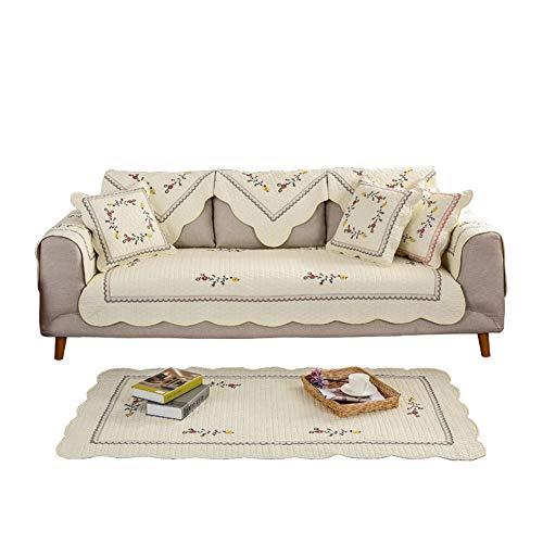 Funda de sofá antideslizante bordado,Algodón acolchados muebles protectores cubiertas para toda la…
