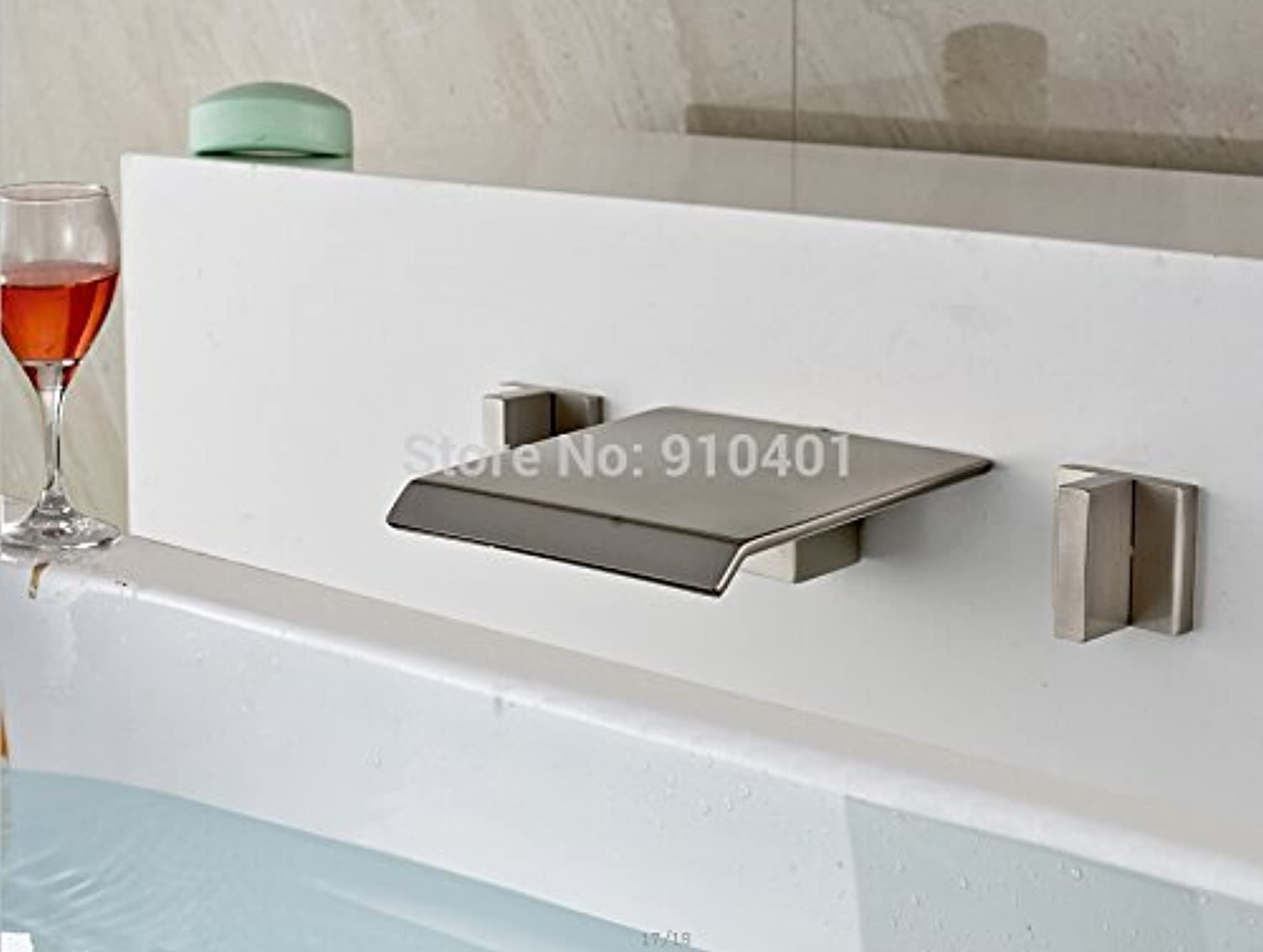 Maifeini The Promotion Of The New Brushed-Nickel Plated Bathroom Wall Mounted Basin Series Plunge Pool Mixer Tap