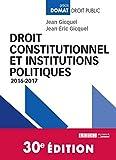 Droit constitutionnel et institutions politiques,