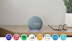 Meet Echo Dot with clock—our most popular smart speaker with Alexa. The sleek, compact design delivers crisp vocals and balanced bass for full sound. Perfect for your bedside table—see the time, alarms and timers on the LED display. Tap the top to sn...