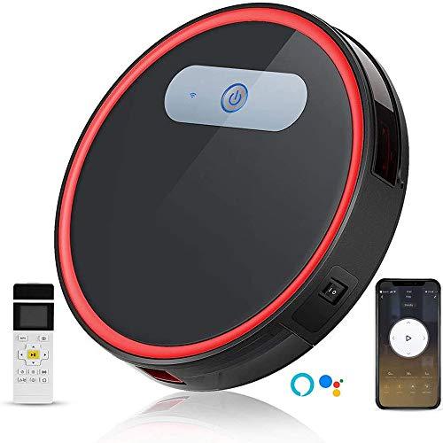 Robot Aspirador con WiFi, Aspirador, Robot Aspirador Varilla Recta 2 En 1, Control App, Aspirador Automático, Ultra Silencioso