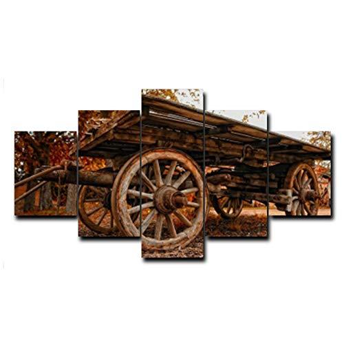 Oude Houten Scooter Canvas Prints Schilderij Huisdecoratie Muurschilderingen Schilderijen Foto's voor Woonkamer Slaapkamer -40x60x2 40x80x2 40x100cm Geen Frame