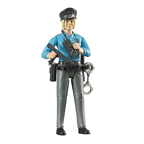 bruder 60430 - Minifigur - bworld Polizistin mit hellem Hauttyp und Zubehör