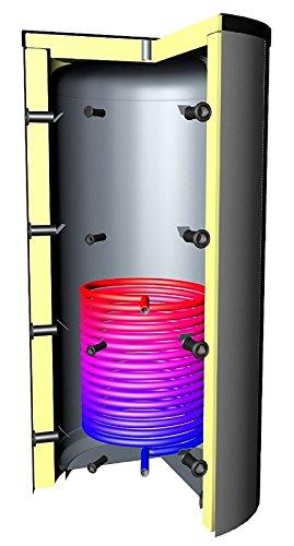 Pufferspeicher 5000 Liter Warmwasserspeicher Vließ-Isolierung Solarwärmetauscher