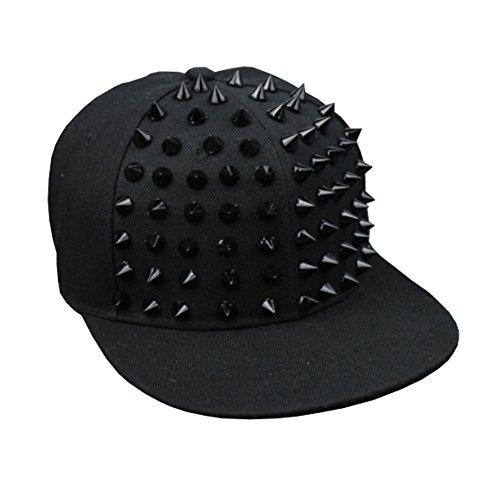 Chinashow Moda Cool Remaches góticos Ajustable Punk Rock Hip Hop Sombrero Gorra de béisbol Cap Stud Cap #4 (Varios)
