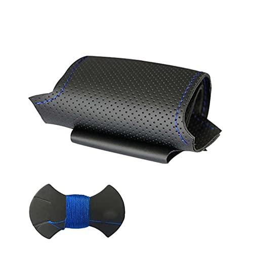 BAWAQAF Cubierta Negra para Volante de Coche Cosida a Mano DIY, Apta para BMW 318i 325i 330ci E39 E46 X5 E53 Z3 E36 / 7 E36 / 8