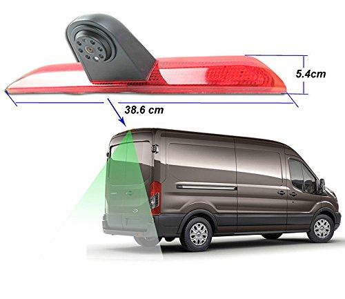YMPA Rückfahrkamera kompatibel mit Transporter Ford Transit ab Baujahr Bj 2014 IR Nachtsicht 10 Meter Kabel NTSC für Monitor Rückfahrsystem