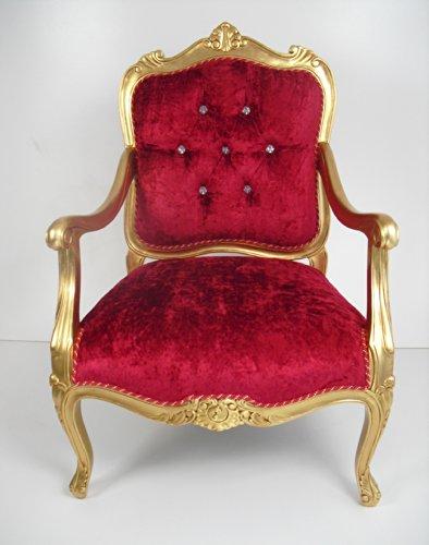 Sillón Louis XIV con acabado dorado envejecido
