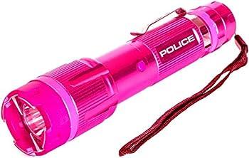 POLICE Stun Gun 1159 - Aluminum Series 59 Billion Rechargeable with LED Tactical Flashlight Pink