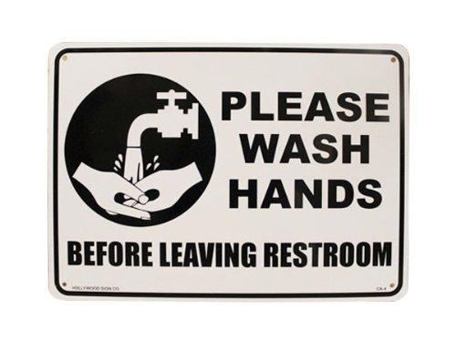 アメリカ直輸入のプラスティック看板♪【プラスティック サインボード PLEASE WASH HANDS(手を洗いましょう) ヘービーオンスタイプ】