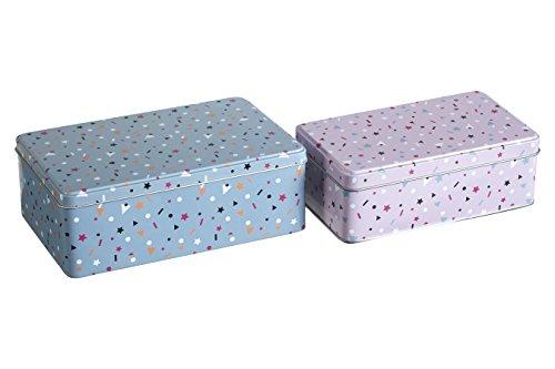Premier Housewares Stellar, Rettangolare, Set di 2, Metallo, Multi/Multicolore, 13x 20x 7cm