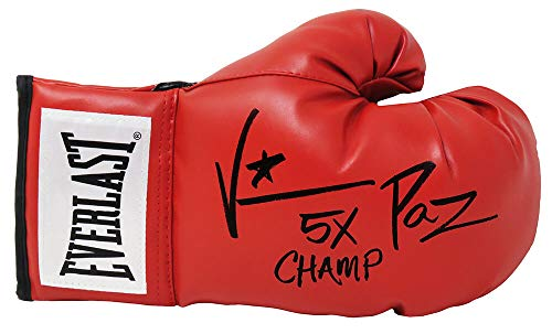Vinny 'Paz' Pazienza Signed Everlast Red Boxing Glove w/5x Champ