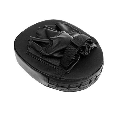 Gazechimp 1x Schwarz Kampsport MMA Schlagpolster  PU Leder Kopfschutz für MMA Boxen Abbildung 3