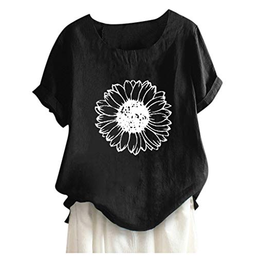 Damen Teenager Mädchen Sonnenblume Drucken Tshirts Grafikdruck Shirt Klassisches...