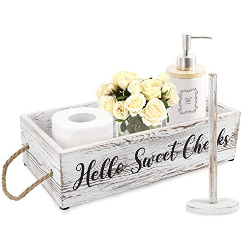 Top 10 best selling list for toilet paper holder on wall behind toilet