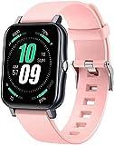 l b s Smart Watch Orologio da uomo Fitness Tracker IP68 Impermeabile Sport Watch con pressione sanguigna/ossigeno nel sangue/cardiofrequenzimetro per iOS Android (C)