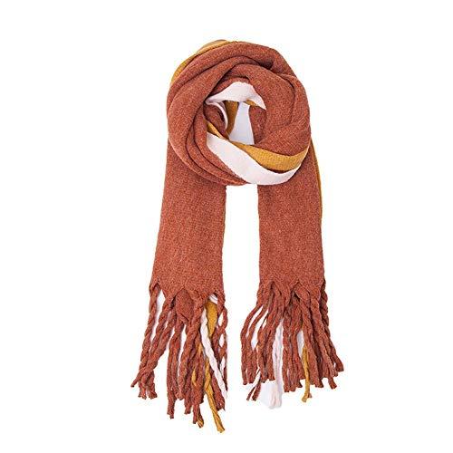 ULIULINH dames sjaals grove warp breien kwastspreuk kleur dikke sjaal sjaal sjaals grote vlechten voor koud weer