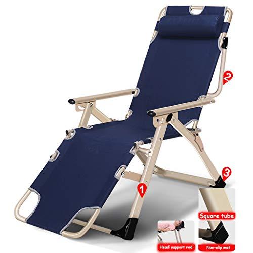 Patio Zero Gravity Chaise Extérieure Réglable Pliant Verrouillage Chaises Longues Camp Lit Seul Bureau Siesta Lit Oxford Tissu