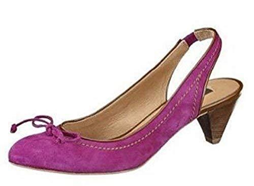 Zinda Sling Pumps aus hochwertigem Leder Violett Gr. 35